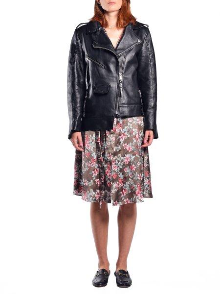 Asymmetric Black Leather Jacket