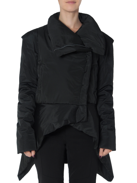 Asymmetric Black Slicker Jacket