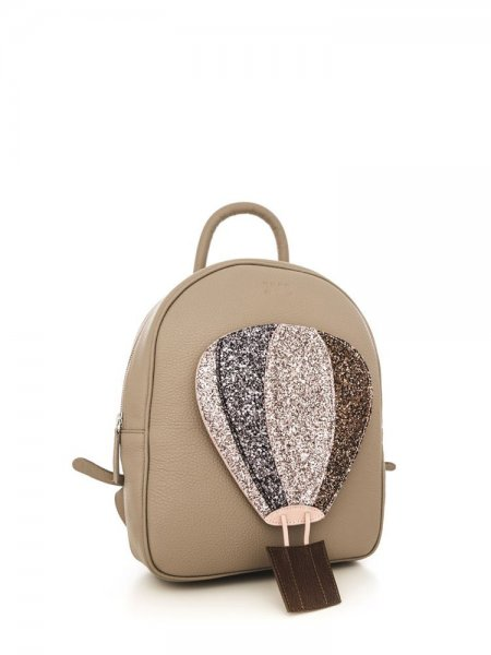 Beige Ami Backpack with Air Baloon