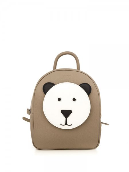 Beige Ami Bear Backpack