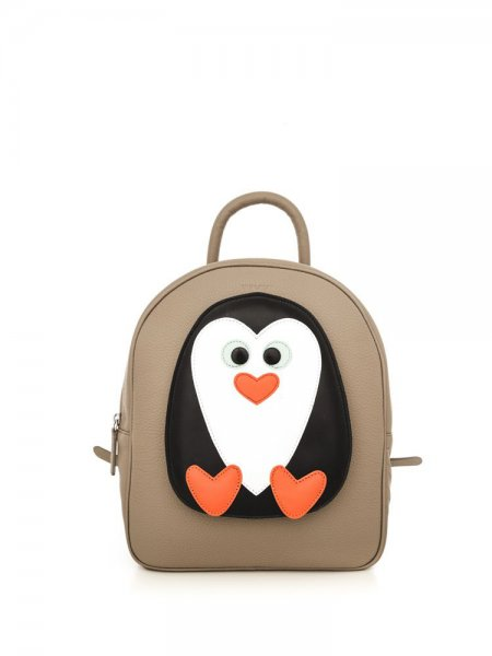 Beige Ami Penguin Backpack