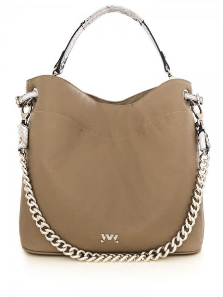 Beige Cecile Shoulder Bag