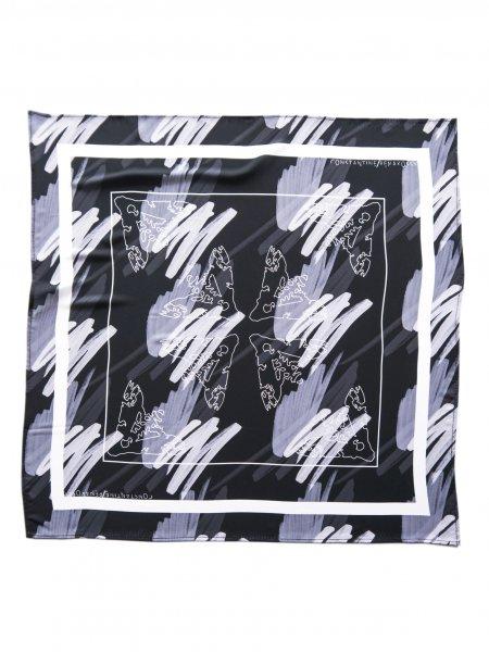 Black & White Printed Veil Scarf