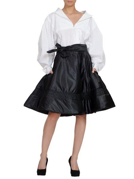 Black Asymmetric Skirt/Cape