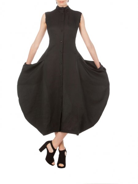 Black Bottom Loose Fit Dress