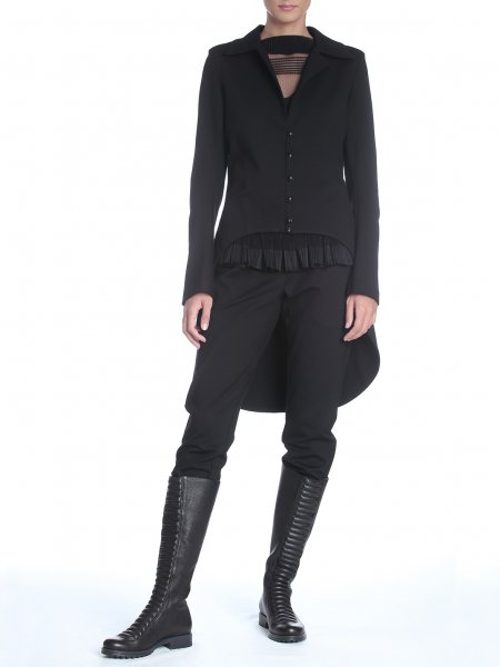 Black Cardigan with Tail