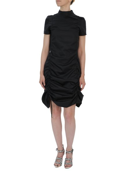 Black Cotton Dress With Laces