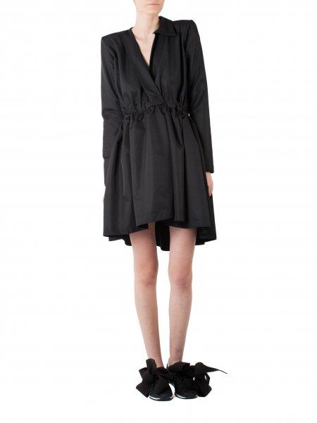 Black Dress with Asymmetric Collar