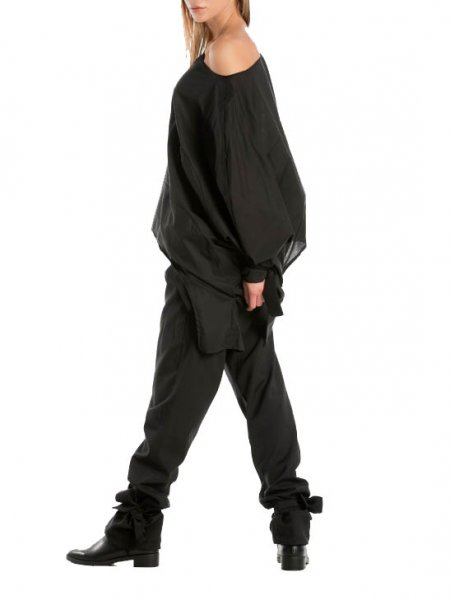 Black Extra Long Pants