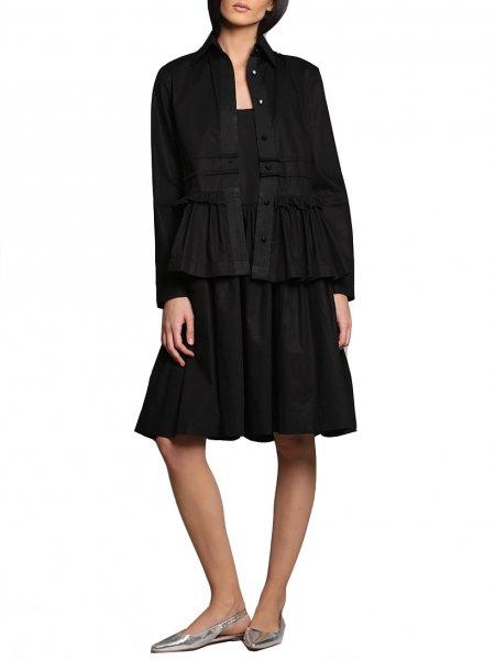 Black Lace Frill Shirt