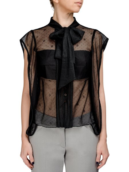 Black Lace Sleeveles Top
