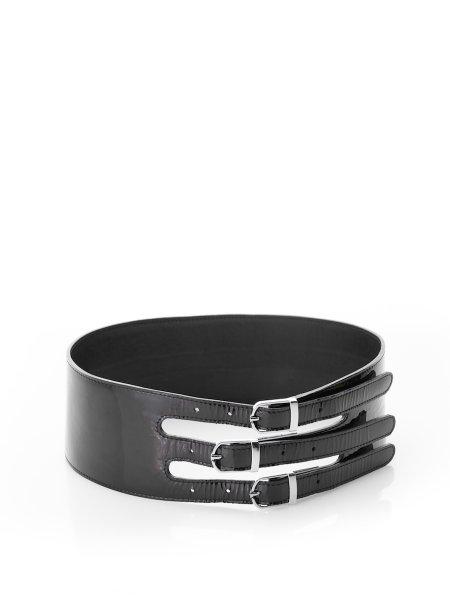 Black Lacquered Belt