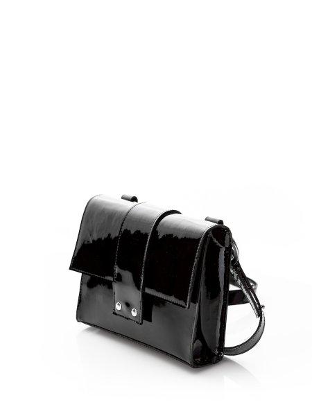 Black Lacquered Messenger Bag