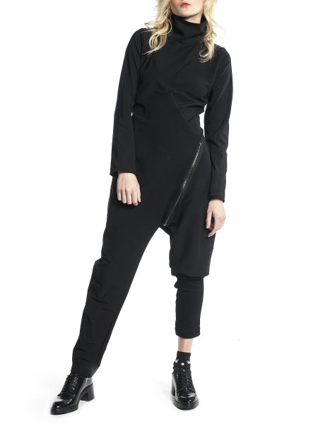 Black Loose Fit Jumpsuit