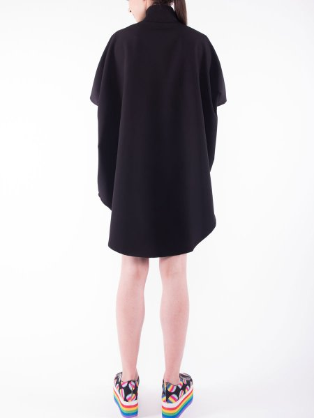 Black Mini Cape Dress