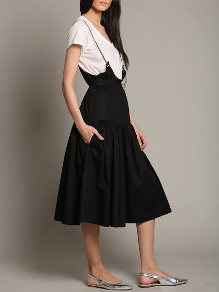 Black Multifunctional Adjustable Straps Dress