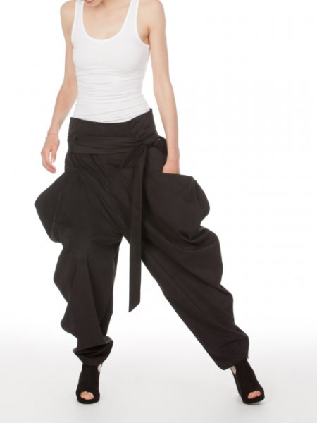 Black Oversized Trousers