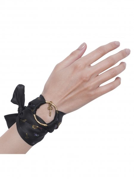 Black Pure Silk Bracelet