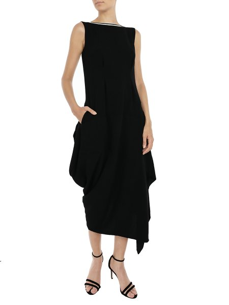 Black Sleeveless Balloon Dress