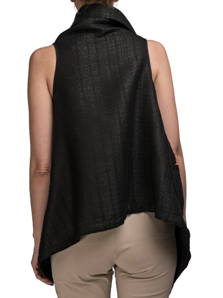 Black Soft Cotton Vest