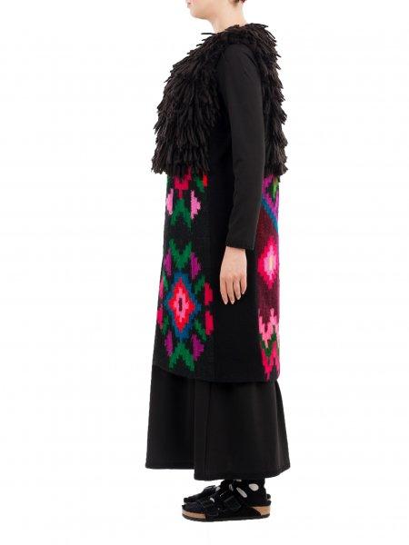 Black Traditional Wool Vest