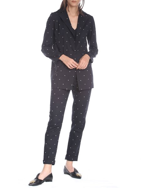 Black Trousers with Embroidery