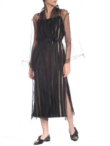 Black Tulle Robe