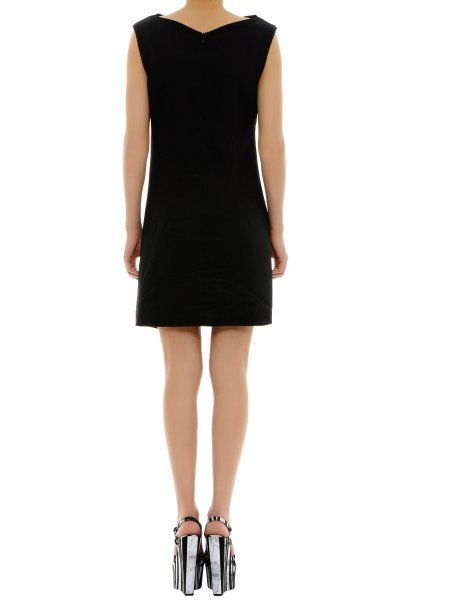 Black Viscose Mini Dress