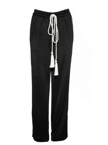 Black Viscose Trousers
