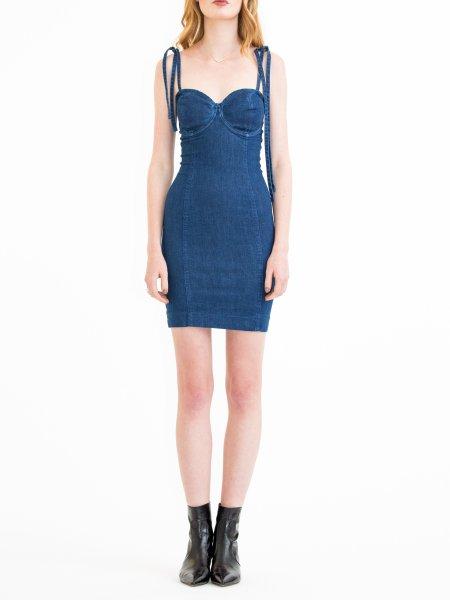 Blue Denim Short Dress
