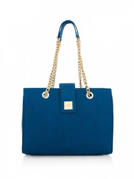 Blue Lady Boss Lipstick Shoulder Bag