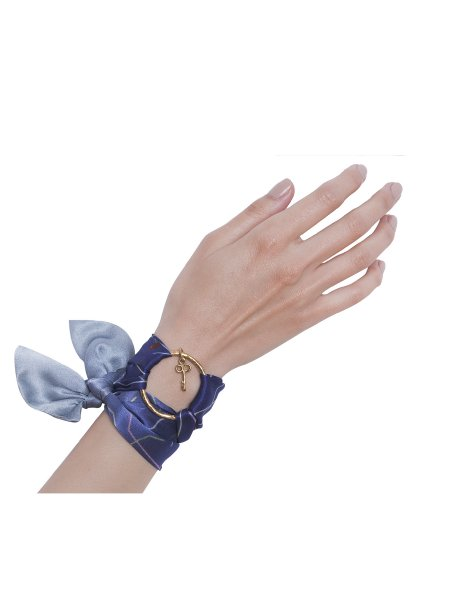 Blue Pure Silk Bracelet