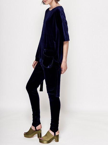 Blue Velvet Shirt