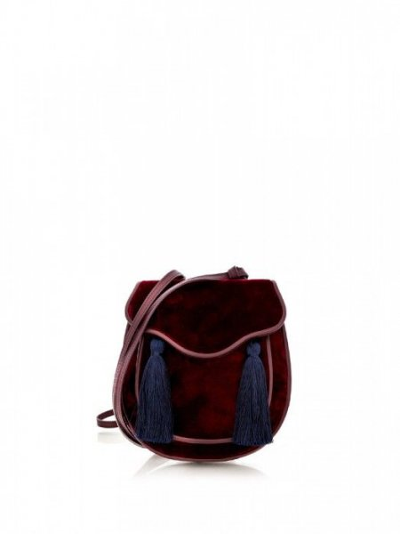 Bordeaux Velvet Bag