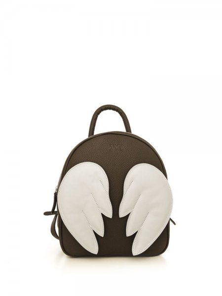 Brown Ami Backpack with White Wings
