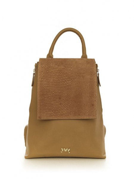 Brown Clara Velour Backpack