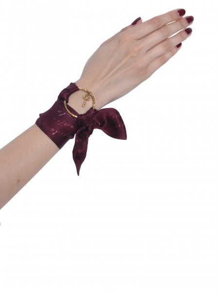 Burgundy Pure Silk Bracelet