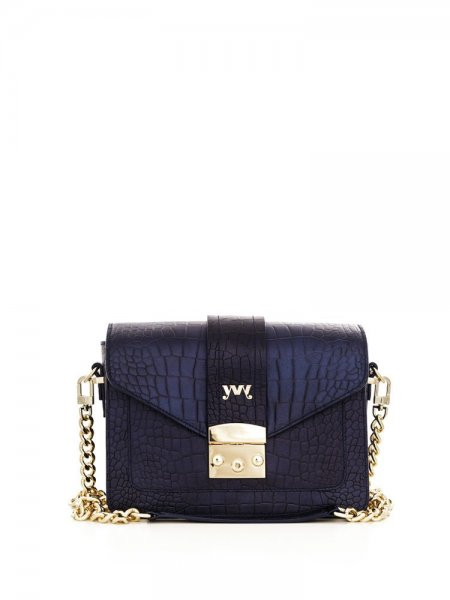 Celeste Blue Croco Bag