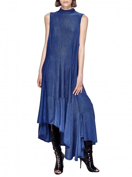 Cobalt Ruffled Dress