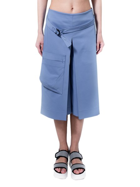 Culottes Pants With Applied Pocket