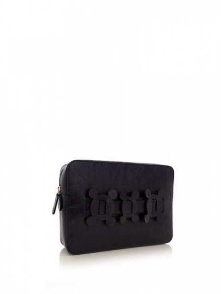Dark Blue Clutch with Details