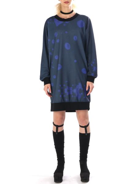 Dark Blue Digitally Printed Dress