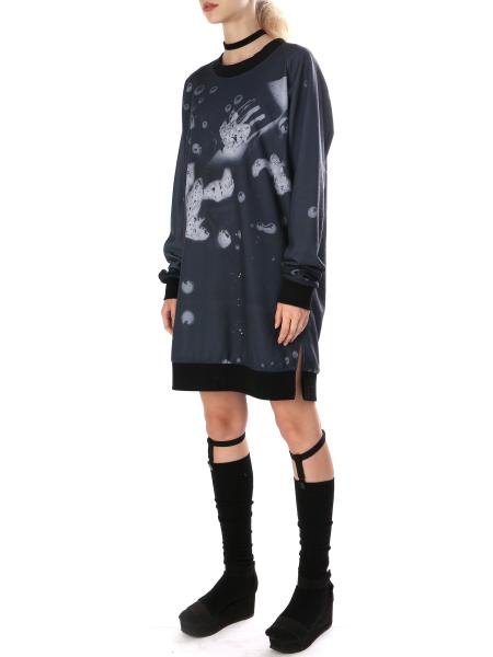 Digitally Printed Dress With Side Splits