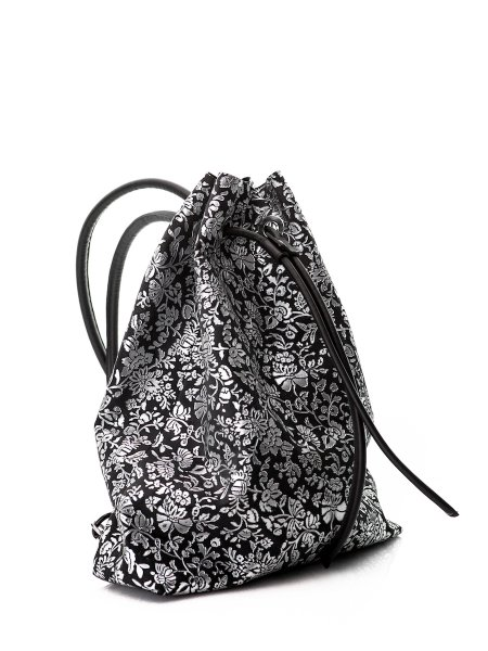 Floral Printed Leather Backpack