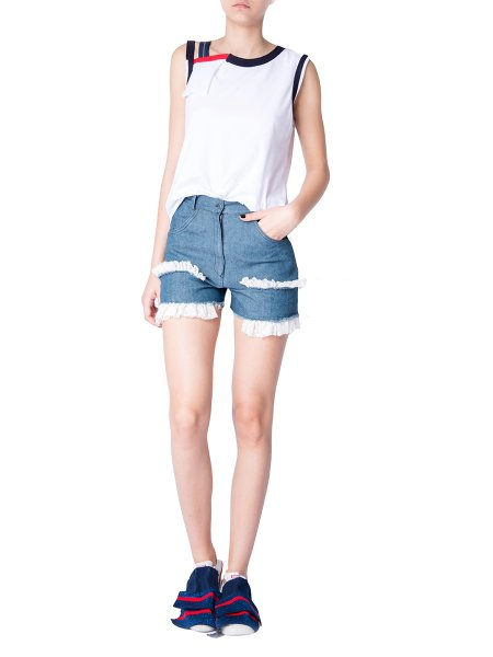 Flounce Blue Light Shorts