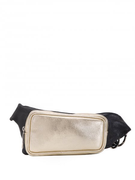 Gold Leather Waist Bag