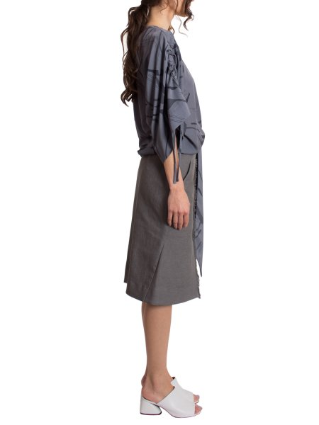 Gray Kimono Blouse