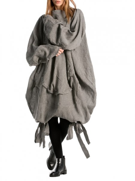 Gray Over Size Tunic