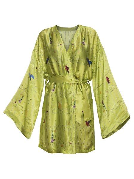 Green Silk Kimono