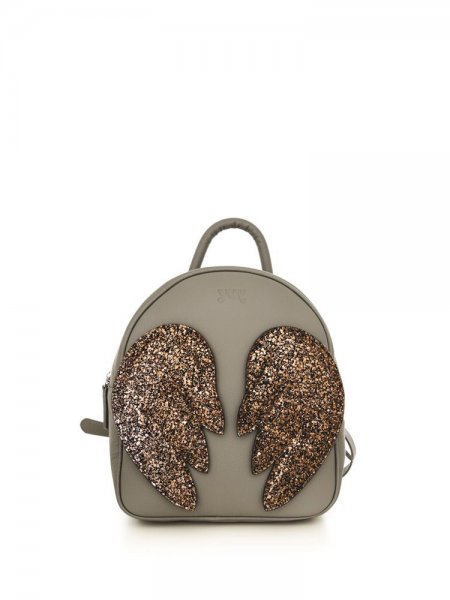 Grey Ami Backpack with Brown Wings